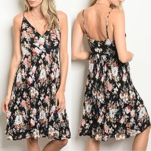Black Floral Dress {Esley}